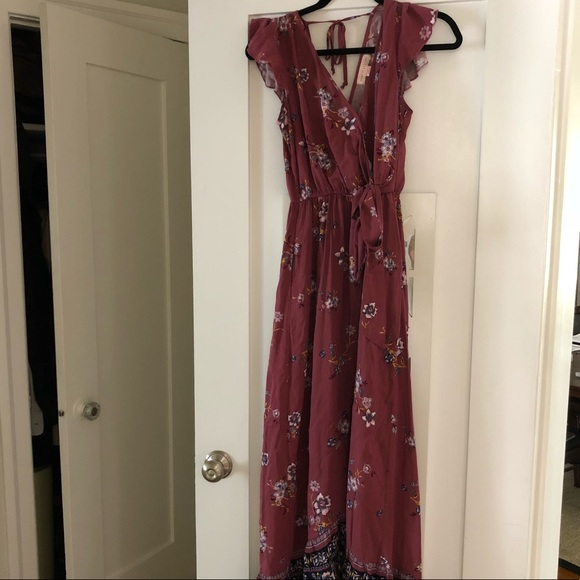 5293536bba Band of Gypsies Floral Maxi Dress